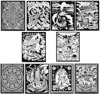 Rose Art 16 X 20 Fuzzy Poster Assorted Designs [Toy] , pack of 1 by Rose Art