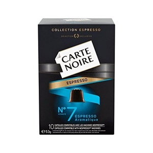 Carte Noire Nespresso Compatible Coffee Capsules 10 per pack - Pack of 2