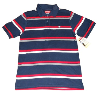 Wrangler Boy's Short Sleeve Polo Shirt, Navy Blue, Red, White, Gray, XL