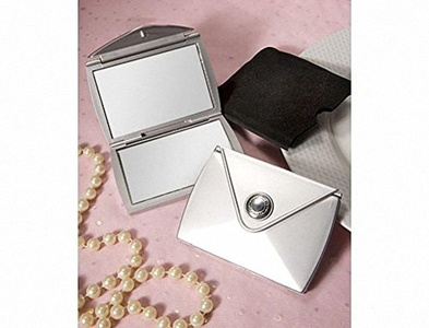 Pack of 6 Fashionable Purse Design Compact Mirror Favours by Mirror Favours
