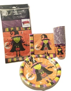 Halloween Fright Night Napkin,Cup, And Plate Set 14 Cups 18 Napkins 18 Plates