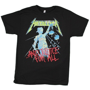 Metallica Men's And Justice For All T-shirt, Black, Medium