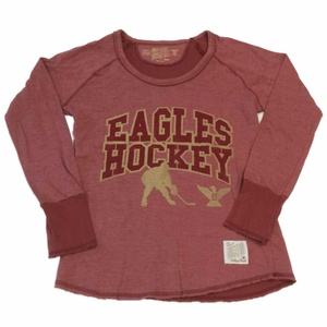 Boston College Eagles Retro Brand WOMENS Maroon LS Pullover Sweatshirt (M)