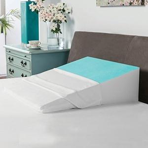 SwissLux Cooling Memory Foam Bed Wedge Pillow