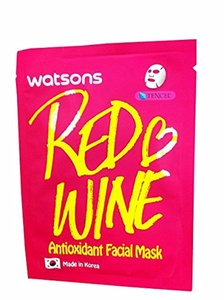4 Mask Sheets of Watsons Antioxidant Facial Mask with Red Wine. Which Help Skin Rejuvenation, Leaving You with More Refined and Supple Looking Skin. (21 Ml Essence/ sheet)