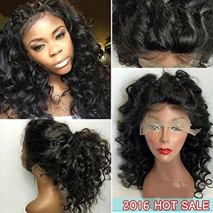 Eva Hair Glueless Lace Front Human Hair Wigs Brazilian Loose Wave Front Lace Wig With Baby Hair Full Lace Human Hair Wigs For Black Women 7A Front Lace Wigs (Full lace wigs 12inch with 180% density natural color)