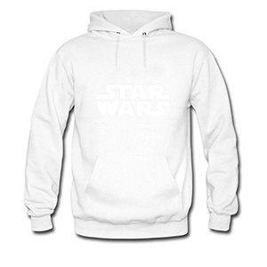 VDSCXZZ Mens Hoodies White Star Wars Logo White Size XXL
