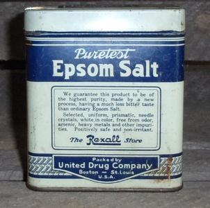 Vintage Puretest Epsom Bath Storage Salt Tin