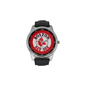 Boston Red Sox Baseball DBLN409 Men Wrist Watches Leather Strap Large Dial Watch