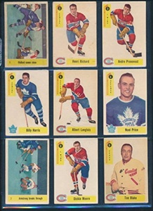 1958 Parkhurst Hockey VG/VGEX avg complete set of 50 cards 37486