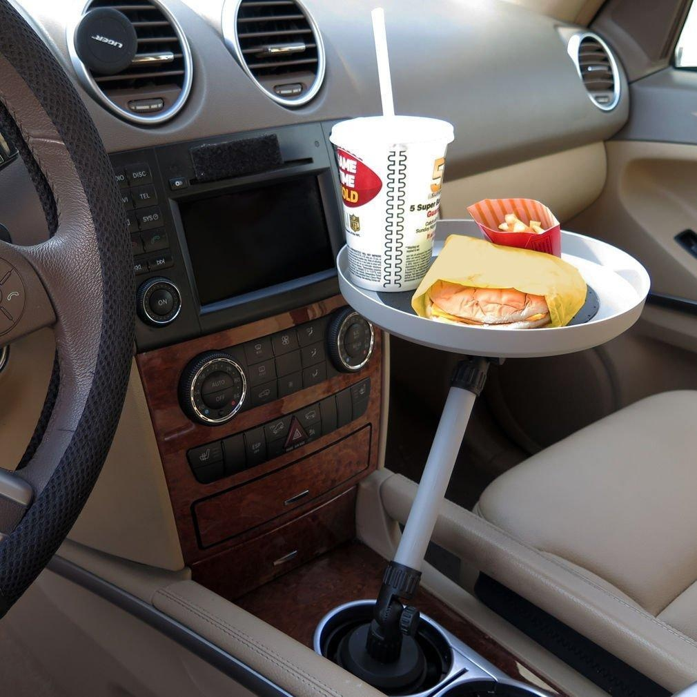 Automobile Swivel Tray For Car Truck Food Snacks Electronics, Cup Holder