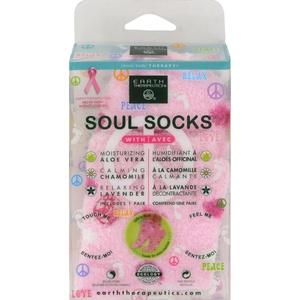 2Pack! Earth Therapeutics Soul Socks - Pink Polka Dot - 1 Pair
