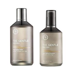 The Face Shop The Gentle For Men Anti-Aging Skincare Set ( Emulsion 130ml+Toner 140ml)