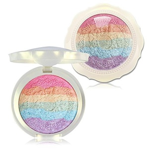 KIMUSE Baked Rainbow Highlighter Makeup Palette Cosmetic Blusher Shimmer Powder Contour Eyeshadow by Kimuse