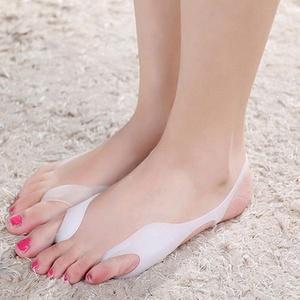 2X Reusable Hallux Valgus Bunion Pain Relief Silicone Toe Separator Straightener