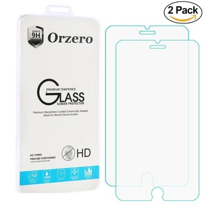 [2 Pack] Orzero iPhone 7 Tempered Glass Screen Protector [3D Touch Compatible] 0.26mm Clear 2.5D Arc Edges 9 Hardness High Definition Anti Glare Anti Fingerprint [Lifetime Replacement Warranty]