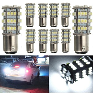 KATUR 10 x White 1157 S25 BAY15D 1210 54-SMD LED Car Lights Bulb Backup Signal Blinker Tail Light Bulbs 12V Replacement 1016 1034 2057 7528 1157A 1178A LED Light