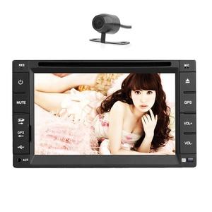 Hotsale EinCar DVD Player Autoradio Bluetooth Double 2 Din Car Stereo Audio Video FM/AM Radio Receiver in Dash Car GPS Navigation Head Unit Steering Wheel Control + Backup Camera