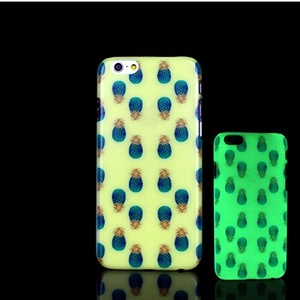 iPhone 7 Case, Glow in the Dark Pineapple Fresh Pattern TomCase Fluorescent Back Cover for iPhone 7 Case 4.7 inch, P1