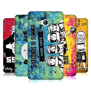 Custom Customized Personalized 5 Seconds Of Summer Mixed Icons Soft Gel Case for Microsoft Lumia 640 / Dual SIM