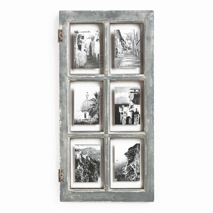 Online Store: Gray Windowpane Frame
