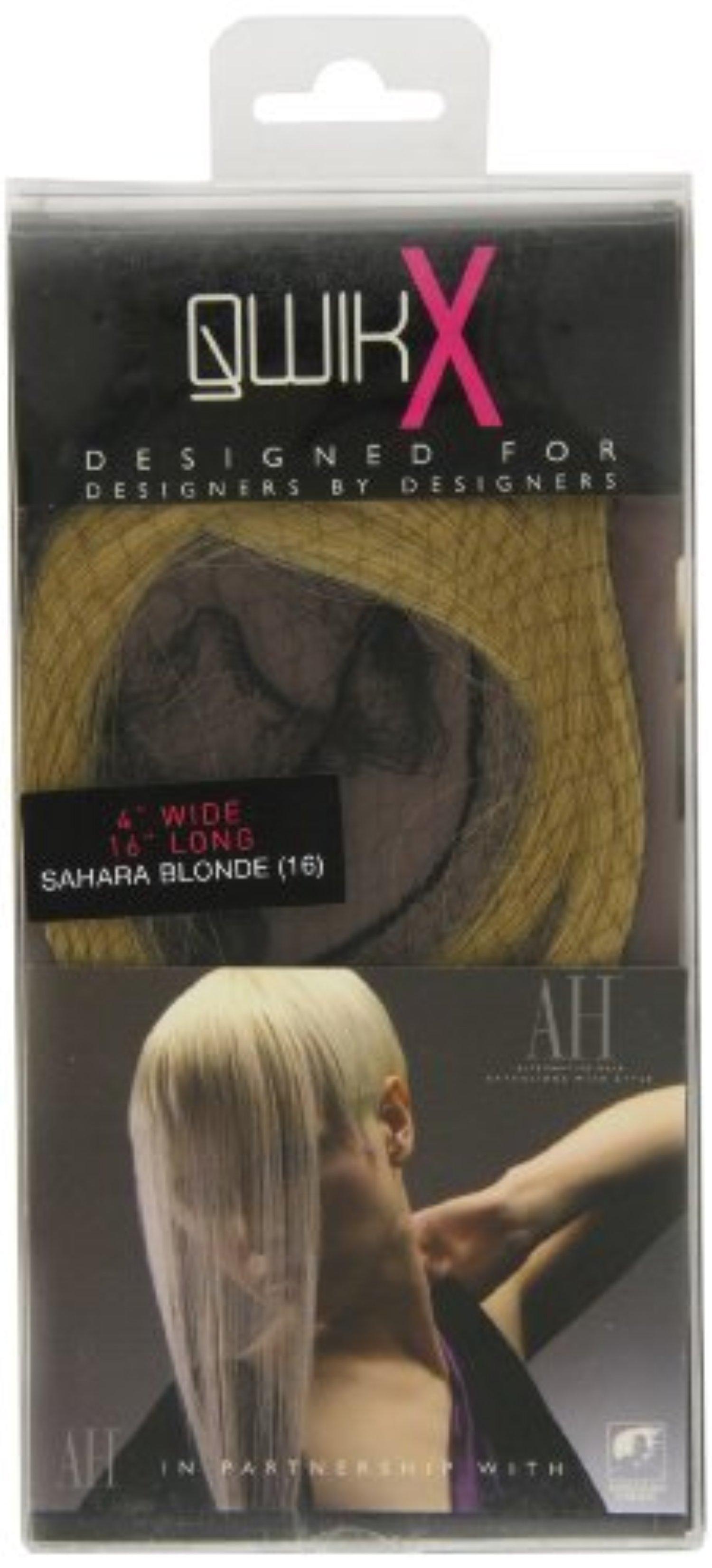 Qwik X 100 Percent Indian Remi Human Hair Tape Hair Extensions Colour 16 Sahara Blonde 41cm by ALTERNATIVE HAIR