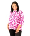 Denim & Company Womens Floral French Terry Top Multi 170883RM (3X, Pink)