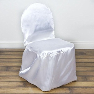 100 White Satin Banquet Chair Covers