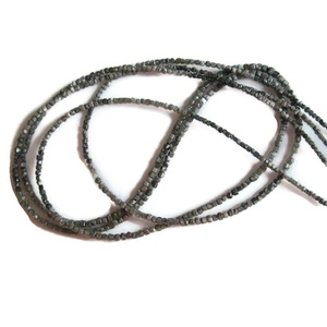 18 Inch Strand, Natural Rough Conflict Free Diamond Box Beads, Grey Raw Diamonds, 1.5mm To 2mm Beads,