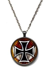 Victorian Vault Steampunk Gothic Gears Industrial Cross Pendant on Chain (Design 125)