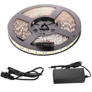 Sehon Waterproof 12V Flexible LED Strip Lights, 6000K White, 300 Units SMD 5050 LEDs, 218 Lumens/ft, 4.4 watts/ft, 12 Volt LED Light Strips 16.4ft / 5M
