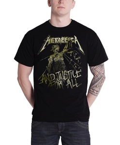 Metallica T Shirt Justice For All Vintage Album Cover Official Mens Black