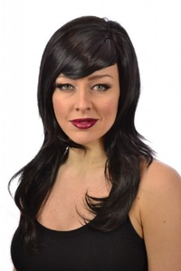 Khloe Wig | Black Long Soft Wave Hairstyle Wig | Heat Style-able wigs by Wigs By MissTresses