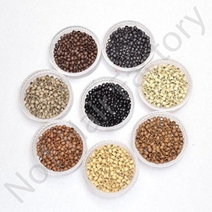 Silicone Lined Nano Rings Beads for use with Nano Tip Hair Extensions New - Black - Amount-400 by Hair Lovers