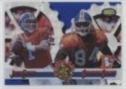 John Elway; Shannon Sharpe (Football Card) 1995 Classic Images Limited - Focused - Live Blue #F-9