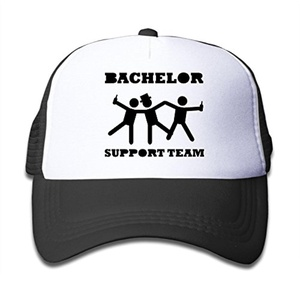 Kid's Bachelor Support Team Funny Graphic Adjustable Mesh Cap Sports Baseball Hats