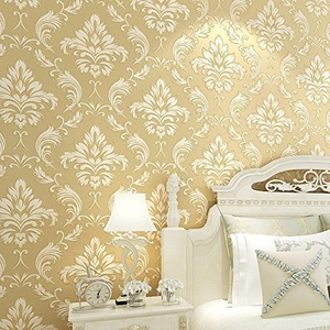 CCWY Continental 3d stereoscopic carved with embosser non-woven cloth wallpaper The background wallpaper in the living room TV is stylish pearl texture
