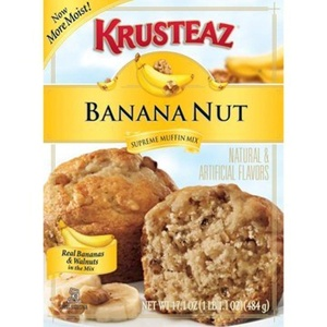 Krusteaz Banana Nut Muffin Mix (Pack of 2) by Supreme Muffin Mix