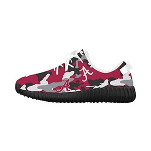Thelma NCAA Alabama Crimson Tide Men's Breathable Running Shoes Sneakers,Black B