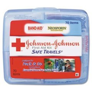 Johnson & Johnson Red Cross Portable Travel First Aid Kit by Johnson & Johnson Red Cross