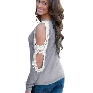 Women Tops, Misaky Casual Long Sleeve Irregular Hem T Shirt Blouse (S, Gray)