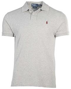 Polo Ralph Lauren Custom Fit Mesh Polo Shirt for Men healthy grey XL