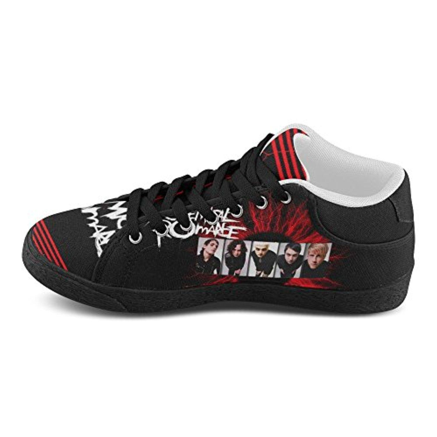 H-ome Art My Chemical Romance Women's Chukka Lace-Up Canvas Shoes Running Sneakers ,Black