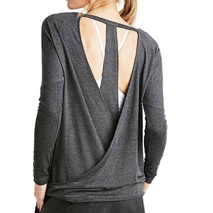 Blouse,NOMENI Women Casual O-Neck Long Sleeve Backless Blouse Tops Shirt (M)