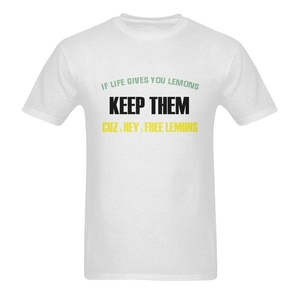 If Life Gives You Lemons Keep Them Cuz Hey Free Funny Quotes Short Sleeve T-Shirt Tee for Men