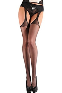 Women's Sexy Cut out Suspender Pantyhose Thigh High Stockings