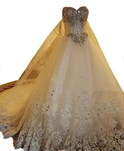 Angel Formal Dresses Women's Sweetheart Beading Lace Bridal Gown Wedding Dresses (14, White)