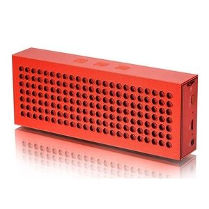Wireless Stereo Portable Bluetooth Speaker with Handsfree Speakerphone and 3.5mm Jack(Red)