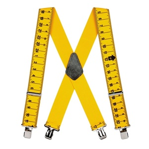 Suspender Store Mens Tape Measure Suspenders - Construction Clip