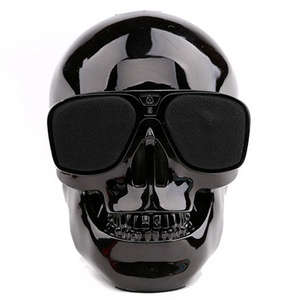 Miyare Creative Gifts Skeleton Head Bluetooth Speakers, Wireless Portable SpeakersStereo Super Bass Subwoofer Hi-Fi Sound Speaker (black)